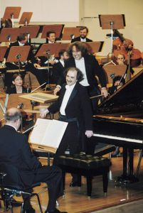 Alexei Orlovetsky and Marek Pijarowski during the opening concert.